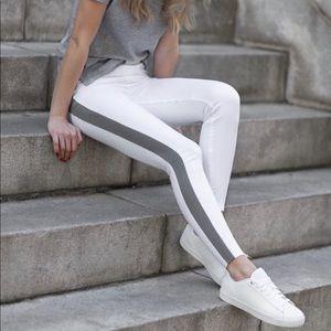 SPANX WHITE STRIPE JEGGINGS XL